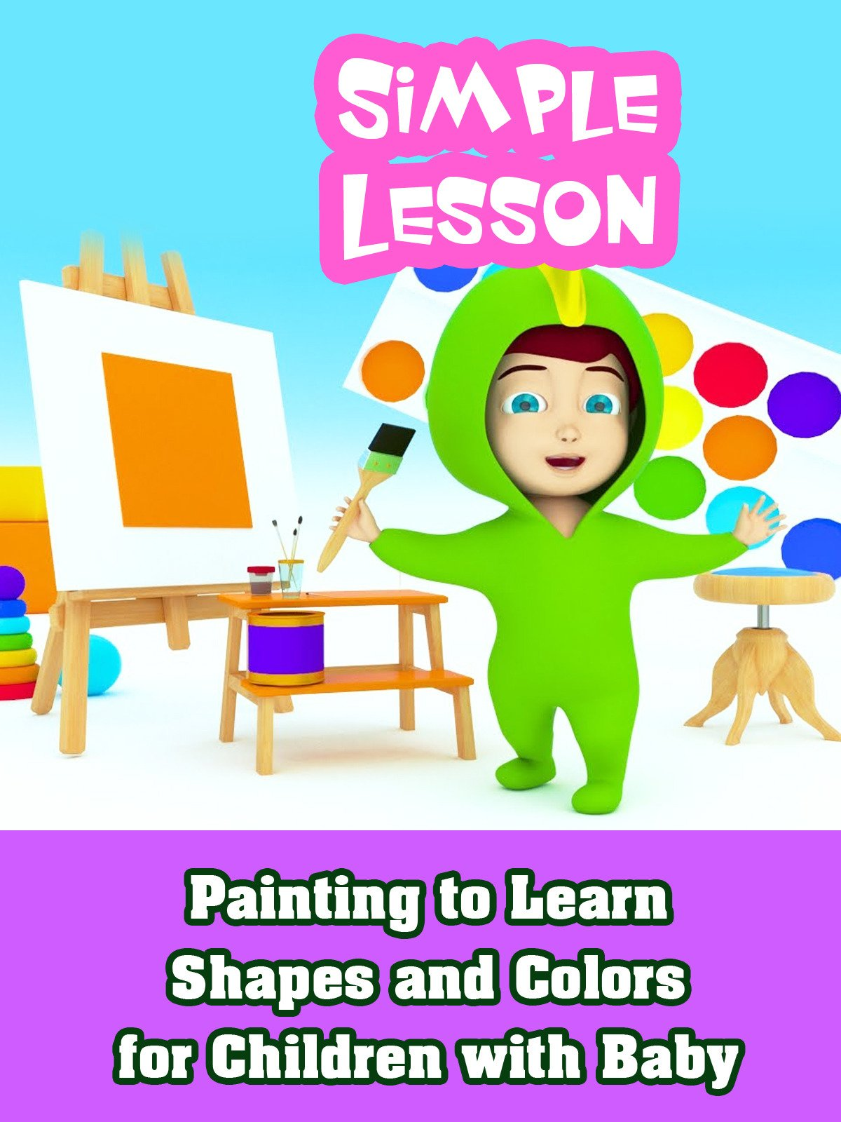 Painting to Learn Shapes and Colors for Children with Baby