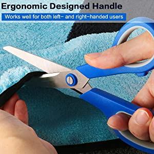 Scissors, VERONES 8 Inch Soft Comfort-Grip Handles & Stainless Steel Sharp Blades Perfect for Cutting Paper, Fabric Photos, More, 5-Pack