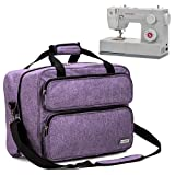 HOMEST Sewing Machine Carrying Case, Universal Tote Bag with Shoulder Strap Compatible with Most Standard Singer, Brother, Janome (Lavender) (Color: Lavender)