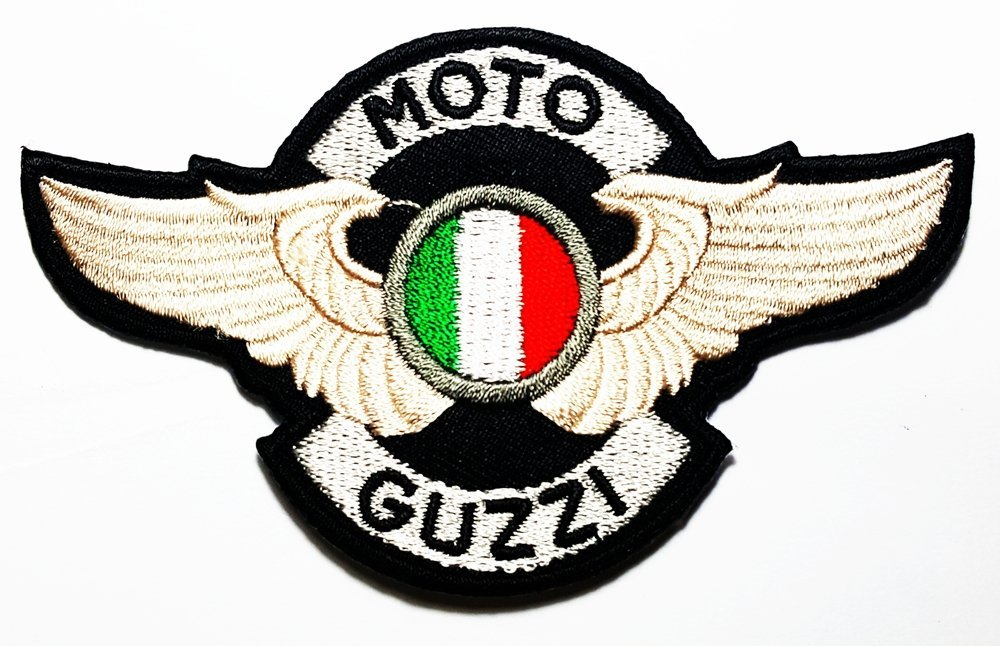 MOTO GUZZI Italian wing Big Bike & Motorcycle Classic varieties of raw Logo Patch Sew Iron on Embroidered 0