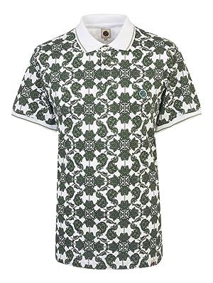 PRETTY GREEN(プリティーグリーン)/ペイズリープリントポロシャツ Green