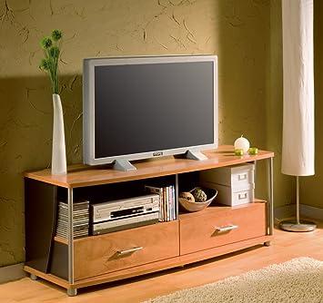 Modern TV Stand in Morgan Cherry