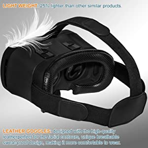 """Virtual Reality Headset 3D IMAX Movie//Game Viewer Compatible iPhone XR Xs X 8 7 6 S Plus Samsung Galaxy S9 S8 S7 S6 Edge+etc 4.0-6.33/"""" Cellphone VR Glasses"""