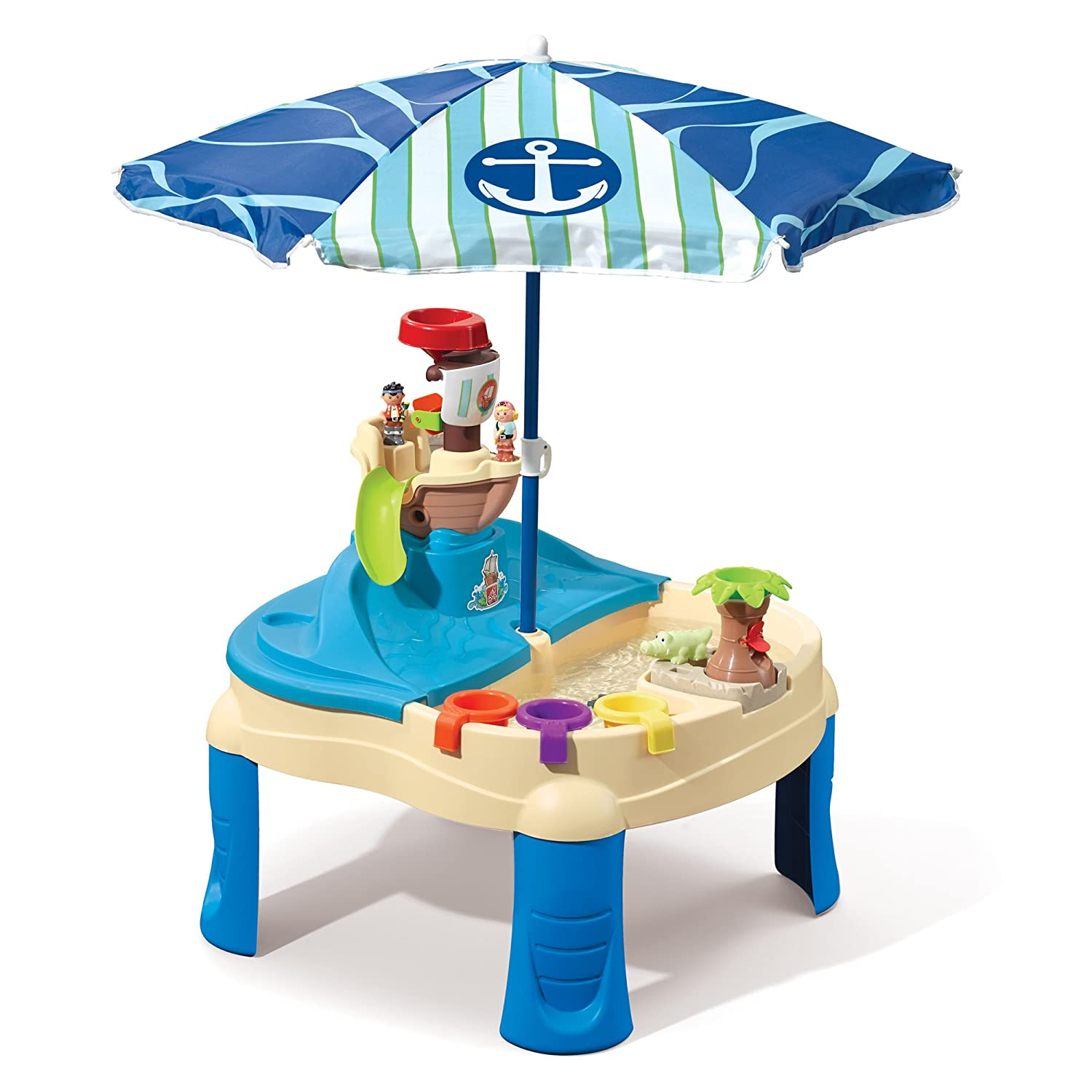 Step2 High Seas Adventure Sand Toys and Water Table with Umbrella