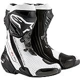 Alpinestars Supertech R Men's Motorcycle Road Racing Boots (Black/White, EU Size 43) (Color: Black/White, Tamaño: EU Size 43)