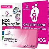 PREGMATE Pregnancy HCG Test Strips One Step Urine Test Strip Combo Predictor Kit Pack (25 HCG)