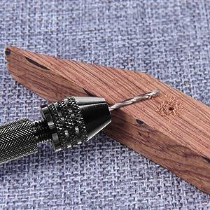 Paxcoo 30Pcs Pin Vise Hand Drill Set with Twist Bits Pin Vise Rotary Tools (Tamaño: 18 Sizes)