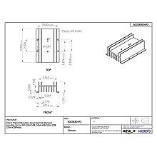 Omron Y92B-A150N Surface Mount Heat Sink, Standard Mounting, For Use With G3NA-240B, G3NA-440B, G3NA-225B, G3NA-425B Relays