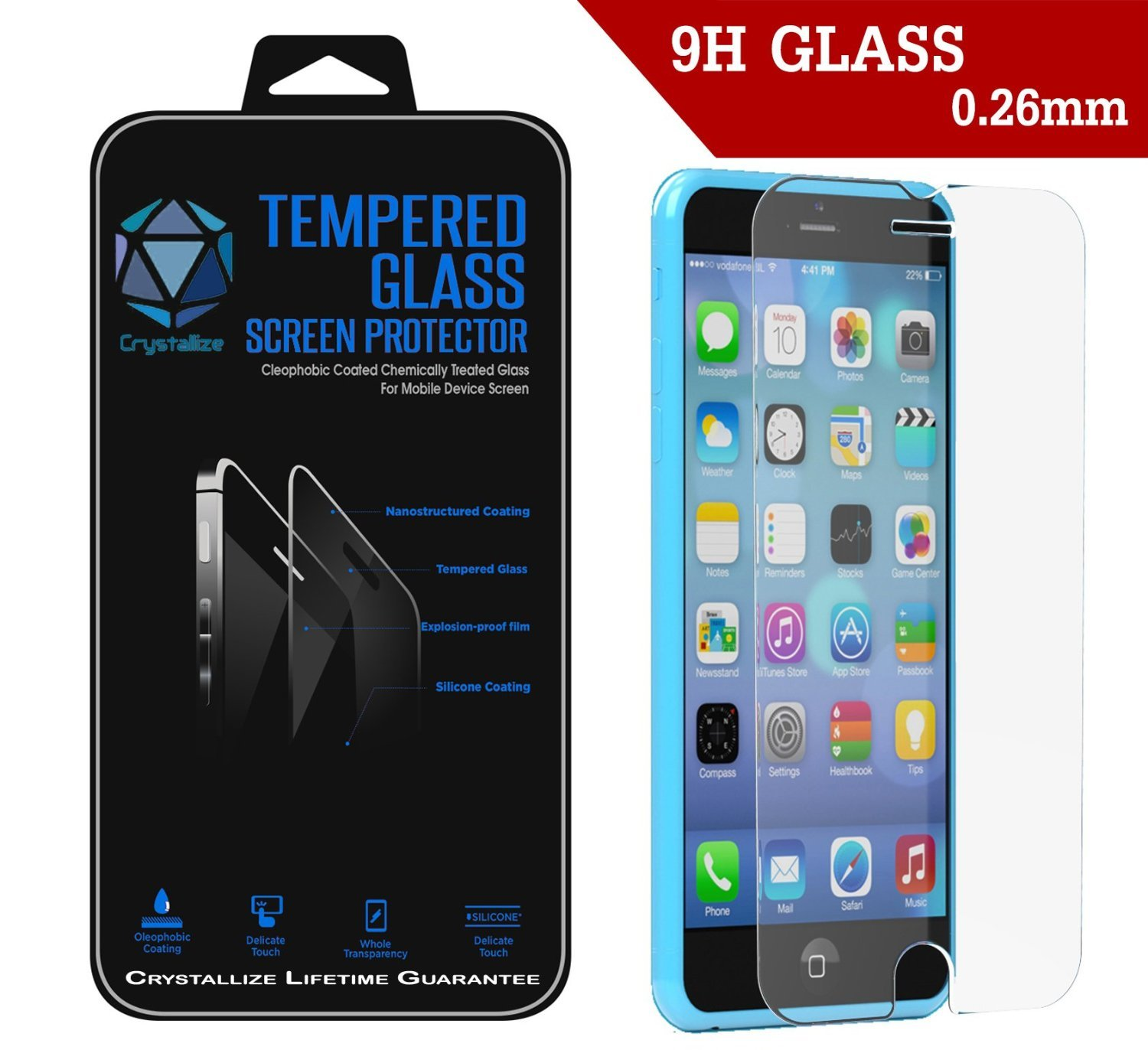 Cracked Glass Iphone 6 Iphone 6 Plus Tempered Glass
