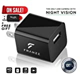 Spy Camera Charger - Night Vision - Hidden Spy Camera - Nanny Cam - Spy Cam - Camera Adapter - Mini Spy Camera 1080p - USB Charger Camera - Hidden Cam - Best Home Security - Camera Charger FULL HD
