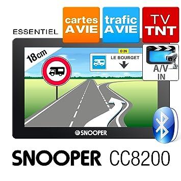Snooper CC8200 GPS Eléments Dédiés à la Navigation Embarquée Europe Fixe, 16:9