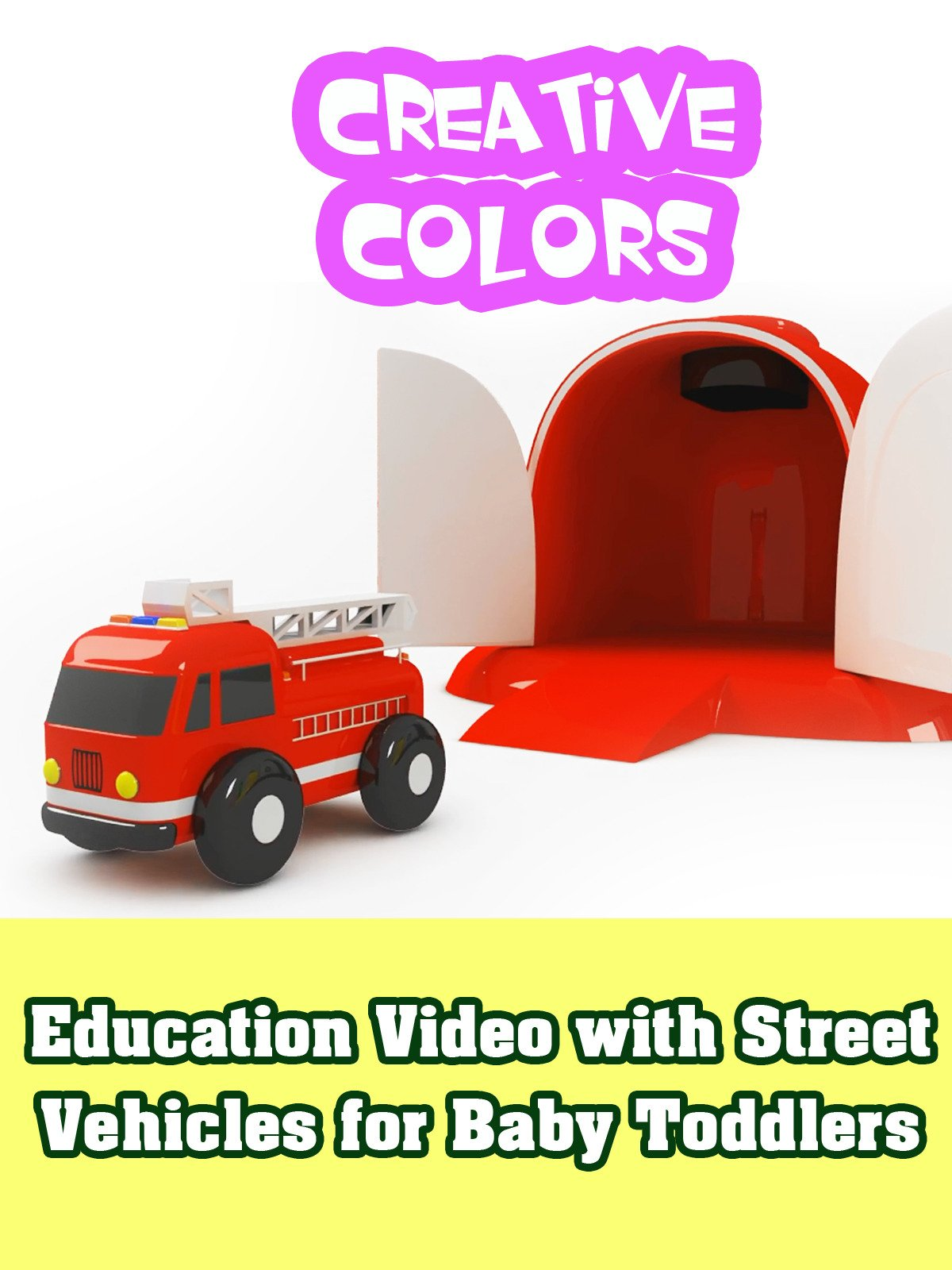 Education Video with Street Vehicles for Baby Toddlers
