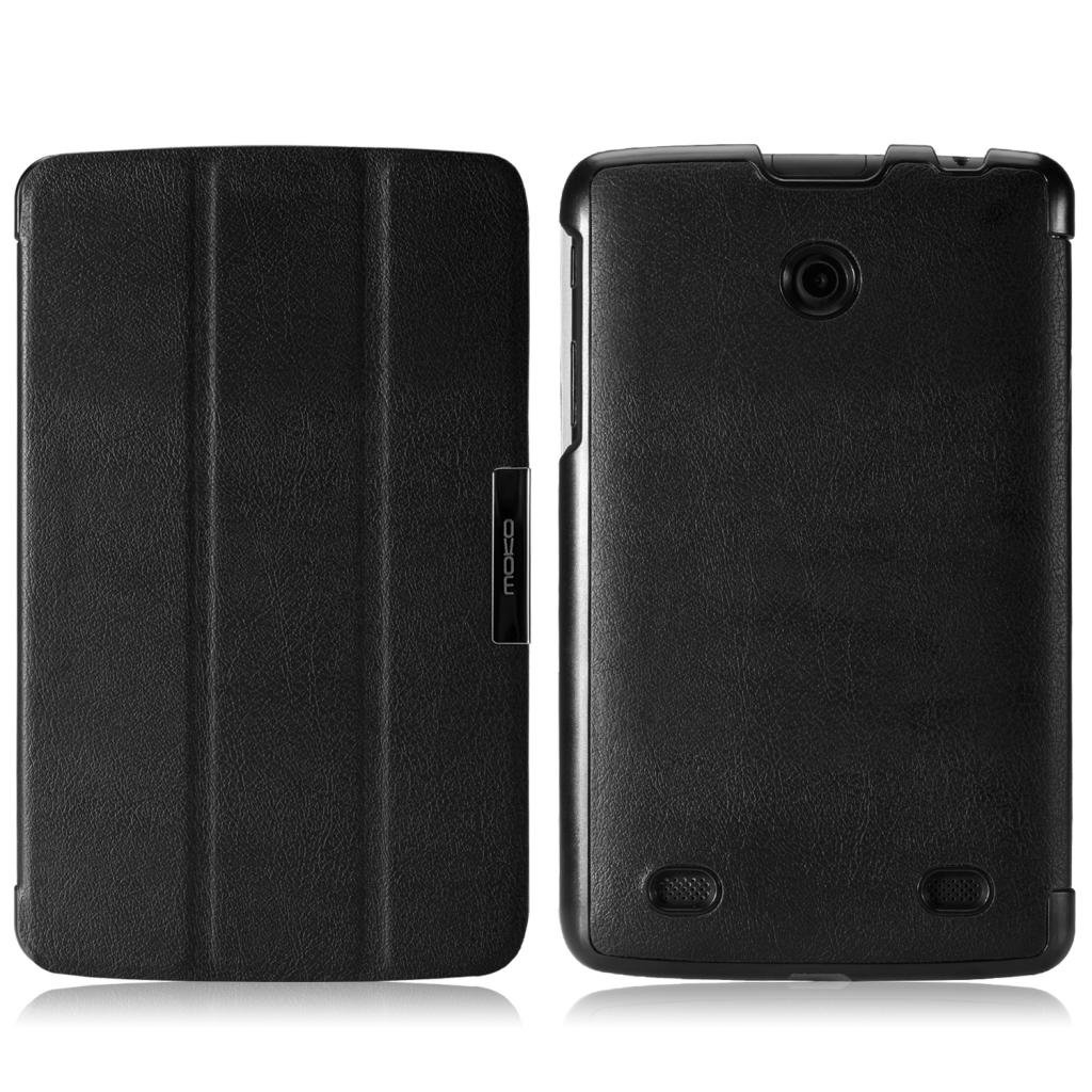 """MoKo LG G Pad 7.0 Case - Ultra Slim Lightweight Smart-shell Stand Case for LG G Pad V400 7"""" inch Android Tablet, BLACK (With Smart Cover Auto Wake / Sleep)"""