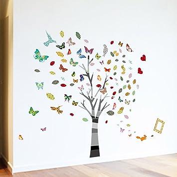 a walplus autocollant d coratif mural pour pour cr che et chambre d 39 enfant arbre. Black Bedroom Furniture Sets. Home Design Ideas