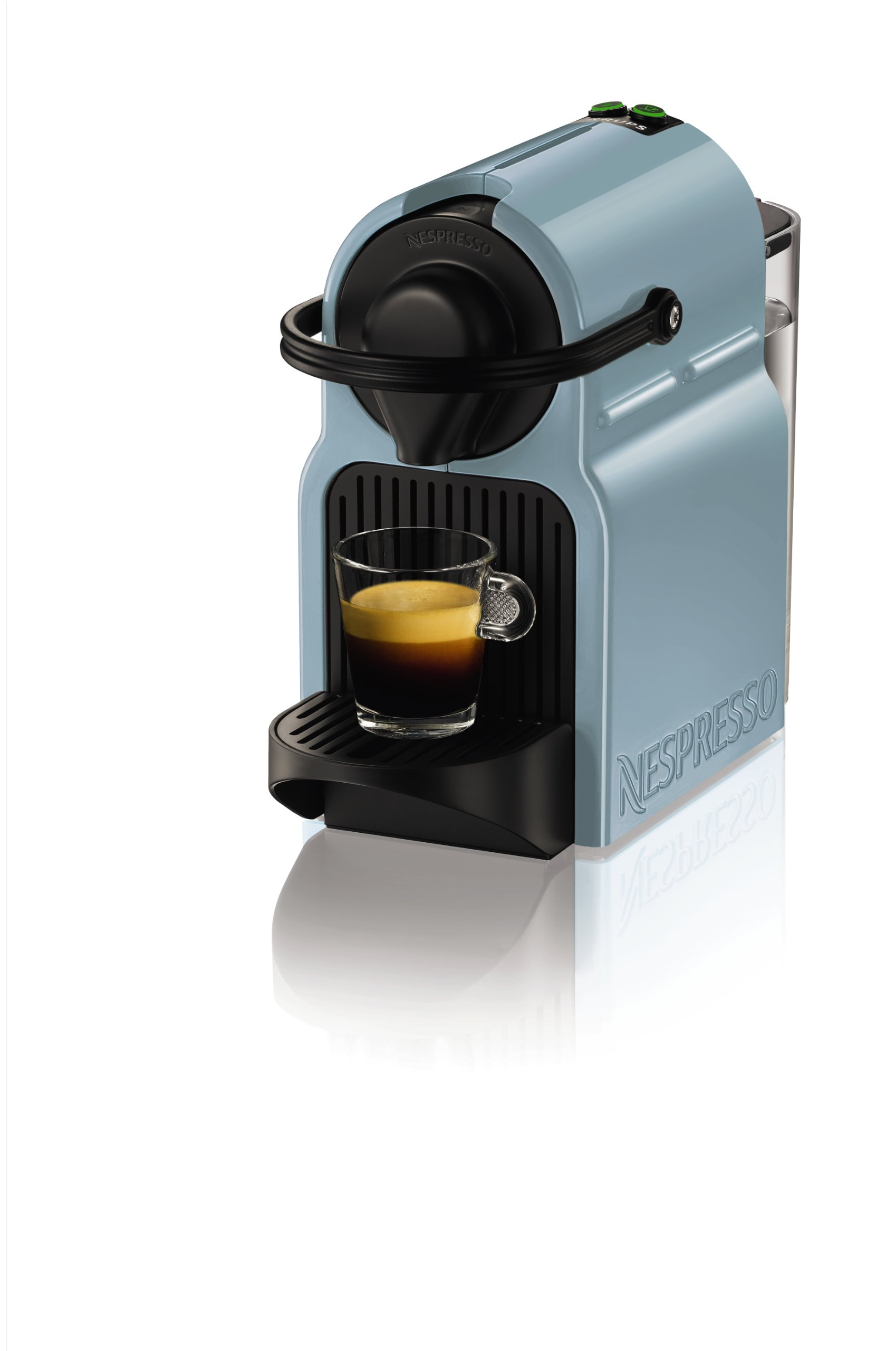 nespresso inissia by krups coffee capsule machine blue ebay. Black Bedroom Furniture Sets. Home Design Ideas