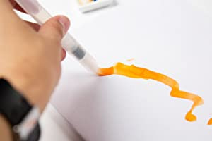 Watercolor Brush Pens 7 Piece Set - 5 Multi purpose Watercolor brush pens - BONUS Pen Brushes Holder Pouch, Artist Grade Watercolor Brushes for Water color Painting & Lettering