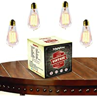 4-Pack BriteNWay 60-watt Teardrop Edison Light Bulbs