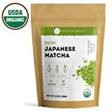Kate Naturals Organic Japanese Matcha Green Tea Powder - USDA Organic Certified from Japan. Culinary Grade for Smoothies, Lattes, Baking, Weight Loss. Boost Energy, Focus. 1-Year Guarantee. (100g)