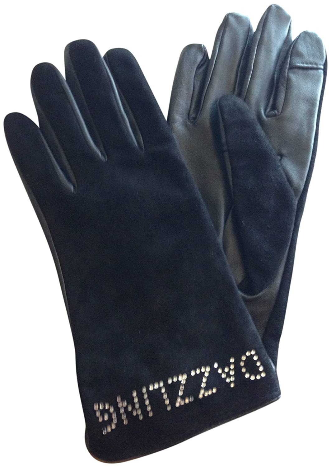Kate Spade Be Dazzling Leather Suede Tech Gloves Size 7.5 Medium Black сумка kate spade new york kennedy street tizzie