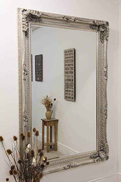Carved Louis Silver 185 x 123 mirror