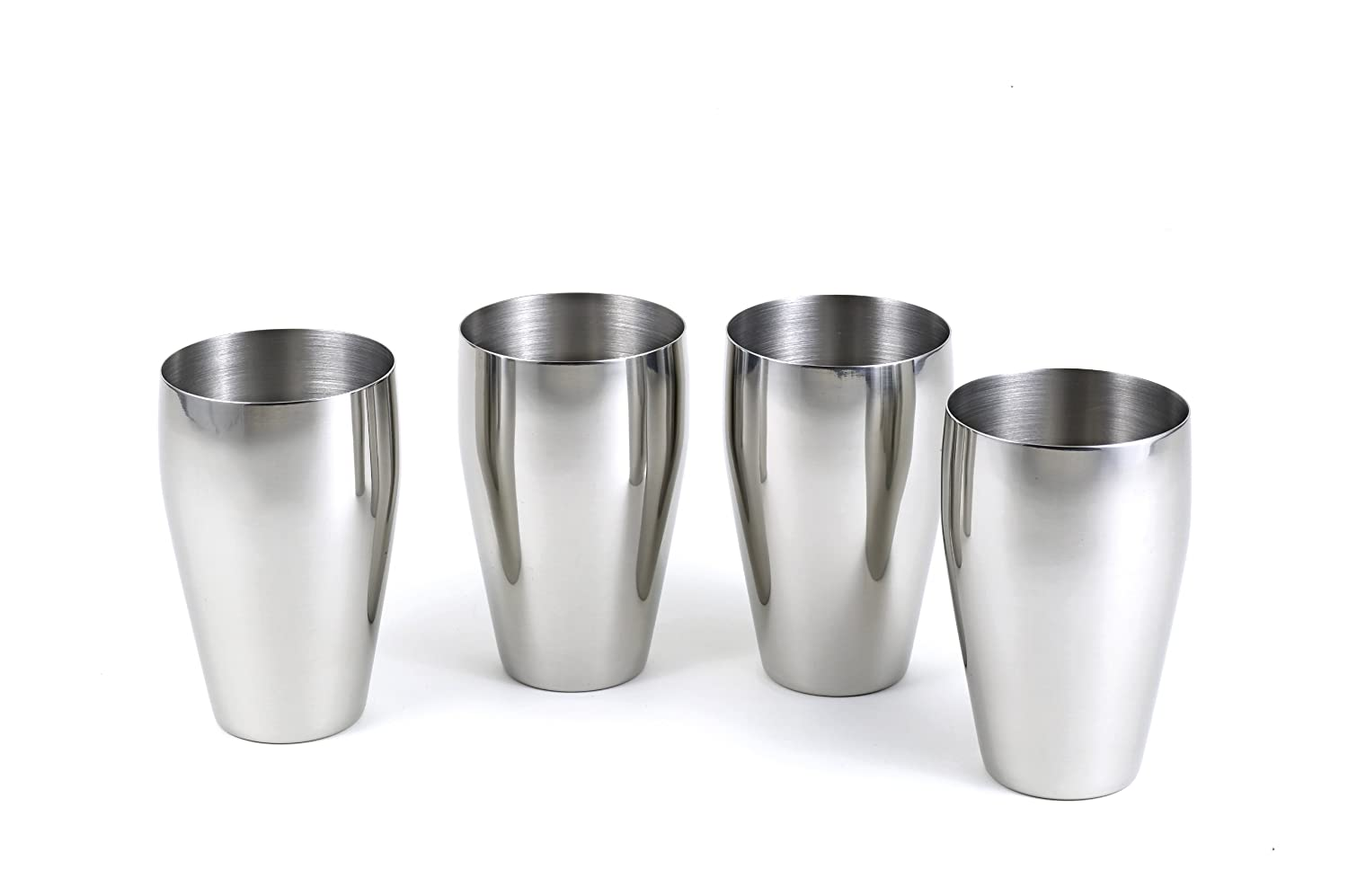 4-Piece Brilliant Stainless Steel Drinking Glass