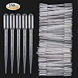 Teenitor 3ML Plastic Transfer Pipettes Eye Dropper Pack of 150 - Essential Oils Pipettes Dropper Makeup Tool