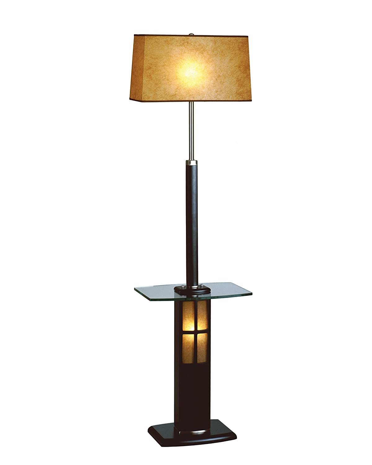 lamp with attached table brushed nickel wood with lighted lamp base. Black Bedroom Furniture Sets. Home Design Ideas