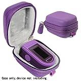 WGear Fingertip Pulse Oximeter Case for Zacurate Pro 500DL, Childrend: Innovo Deluxe, Santamedical 2. Facelake FL400 t. FL350: Vive Precision Spo2 Accumed cms-50dl, 50D1, Healthtree, Measurepro (Color: Purple, Tamaño: Compact size)