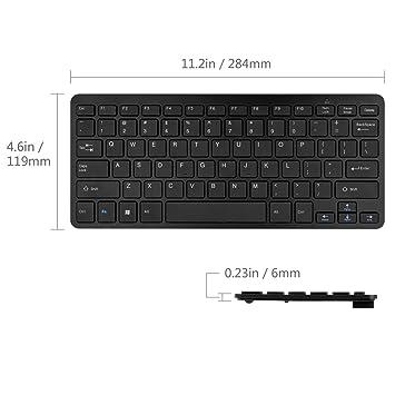 mini sans fil qwerty qwerty clavier et souris pour. Black Bedroom Furniture Sets. Home Design Ideas