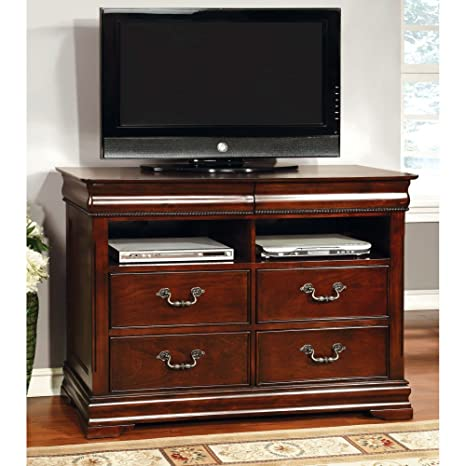 Grand Central 4 Drawer Media Chest - Cherry