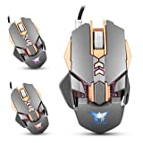 Cywulin Combaterwing CW30 Adjustable 3200DPI Wired Mechanical Macros Define Professional Ergonomic Gaming Mouse Mice for PC,Laptop, Notebook, Desktop, Tablet (Gray) (Color: Gray)