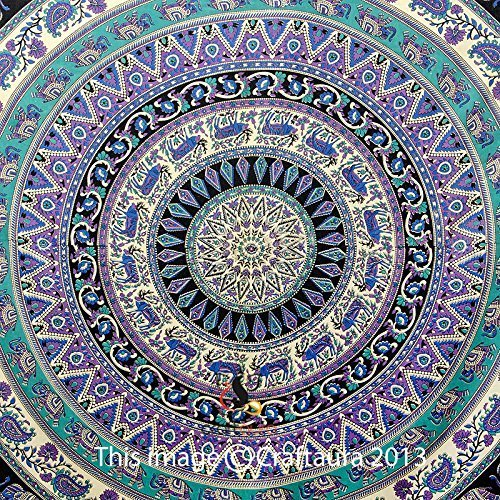 Hippie-Elephant-Tapestries-Large-Size-Tapestry-Wall-Hanging-Mandala-Tapestries-Bohemian-Tapestries-Wall-Tapestries-Dorm-Decor-Queen-Bed-Cover-Bedding