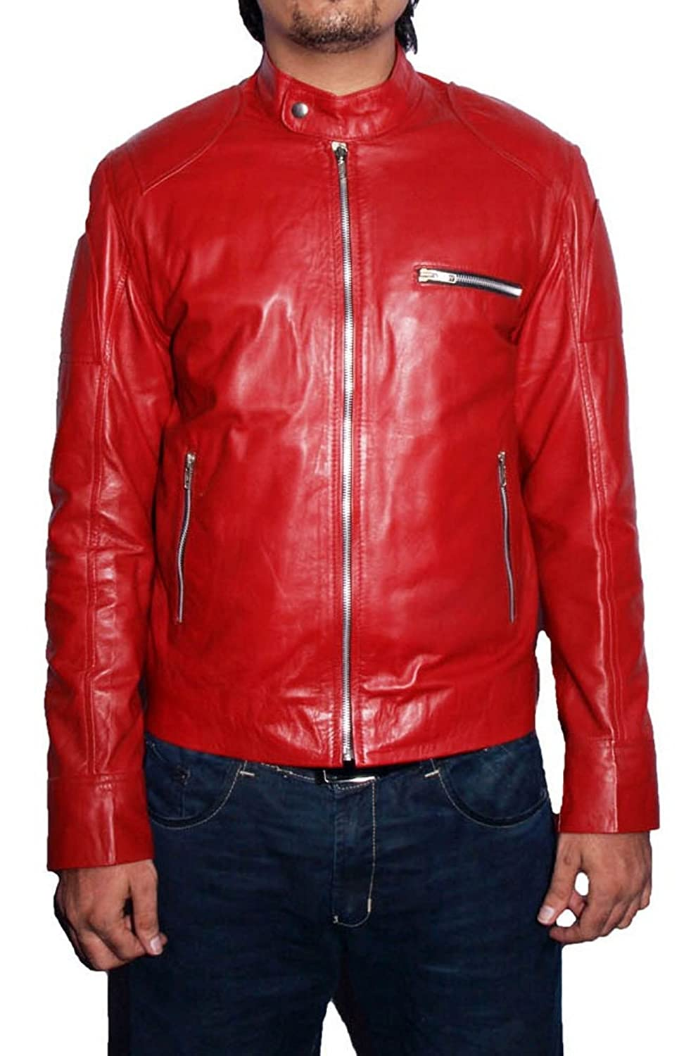 Men's Martin Sheep Red Leather Jacket