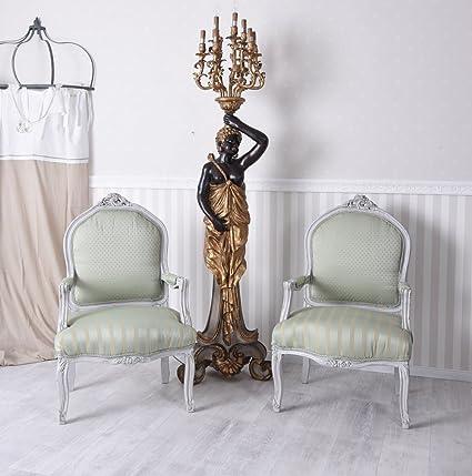 Paar Sessel Barock 2 Sessel 2er Set Armlehnstuhle zwei Barocksessel Palazzo Exklusiv