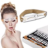 Gracefulvara Stainless Steel Eyebrow Grooming Stencil DIY Tattoo Calipers Eyebrow Ruler