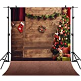 OUYIDA 10X10FT Seamless Christmas theme CP Pictorial Cloth Photography Background Computer-Printed Vinyl Backdrop TD78A (Color: Td78a, Tamaño: 10X10FT)