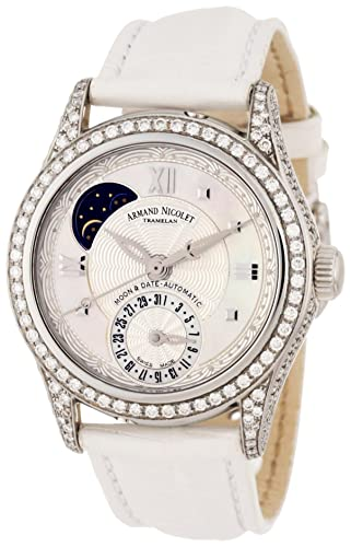 Armand Nicolet Women's 9151V-AN-P915BC8 M03 Classic Automatic Stainless-Steel with Diamonds Watch