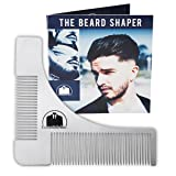 Essentials Beard Shaper Comb for Shaving - Symmetric Beards Shaping Tool, Styling Template, Facial Hair Grooming Kit Guide for Men