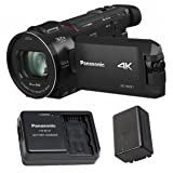Focus Camera Panasonic HC-WXF1K Camcorder w/EVF, 4K, 24X Leica Lens, O.I.S,+ Panasonic Power Pack for Camcorders