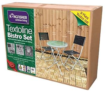 Kingfisher Gartenmöbel Set, 3-teilig (Einheitsgröße) (Schwarz)