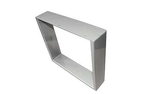 "'Design industriale–Tavolo ""Constantia in cromo/argento verniciato a polvere 80X 70"