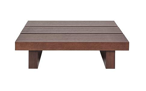 TemaHome Tokyo Tavolino da Salotto, Legno, Cioccolato, 94 x 94 x 35 cm