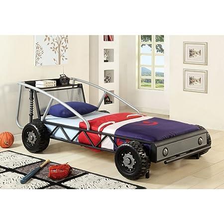 Furniture of America Race Car Twin Metal Bed