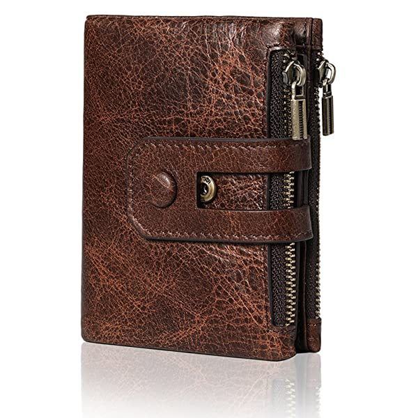 c82aff08c4f6 Fezhiomu Original Classic RFID Men's Bifold Genuine Leather Wallet and Purse  Credit Card Holder Case with Gift Box