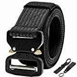 Sizet Tactical Belt Nylon Heavy Duty Waist Belts with Metal Cobra Buckle for Men and Women 1.5