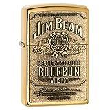 Zippo Jim Beam Bourbon Label Emblem Pocket Lighter, High Polish Brass (Color: Brass Emblem, Tamaño: 5 1/2 x 3 1/2 cm)