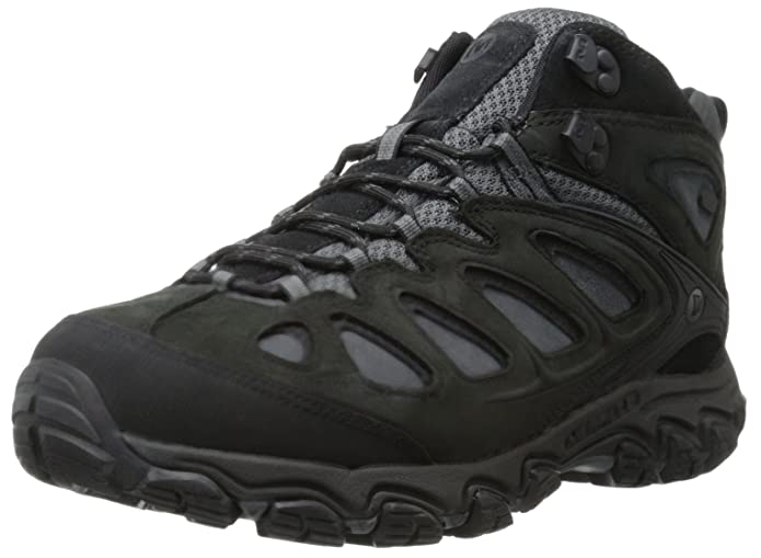 Merrell Men's Pulsate Mid Waterproof Hiking Boot,Black/Castle Rock,10 M US