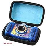 Aproca Hard Travel Storage Case Compatible VTech Kidizoom Camera Pix / Connect / Twist Connect / Duo Selfie Camera (Color: Black-blue Inside)