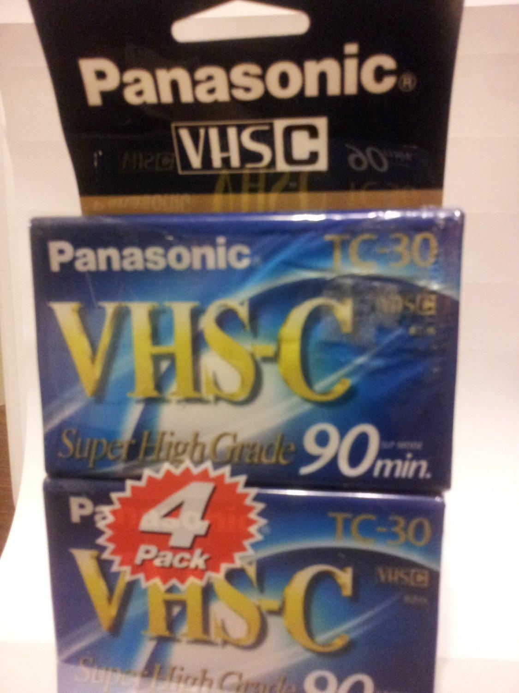 panasonic-nvtc30ah4tr-4-pack-30-minute-vhs-c-cassettes