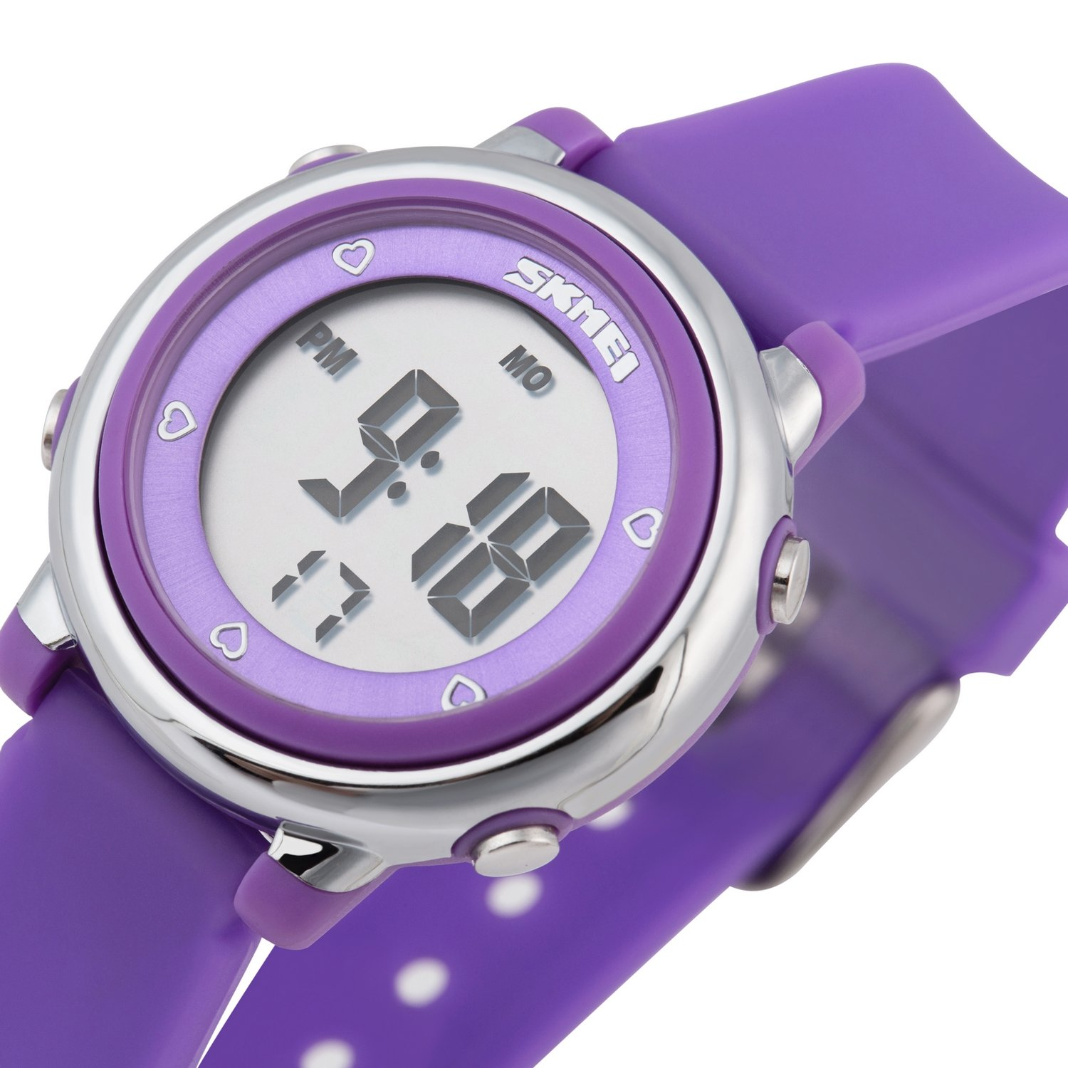 Better line® Digital LCD Kids Watch Band with Hourly Chime, Daily Alarm & Calendar Functions (Purple)